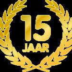 15 jarig jubileum
